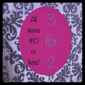 Bundles- three items$10 or less for price of two!